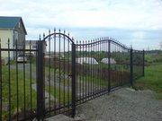 Забор металлический,  кованый забор
